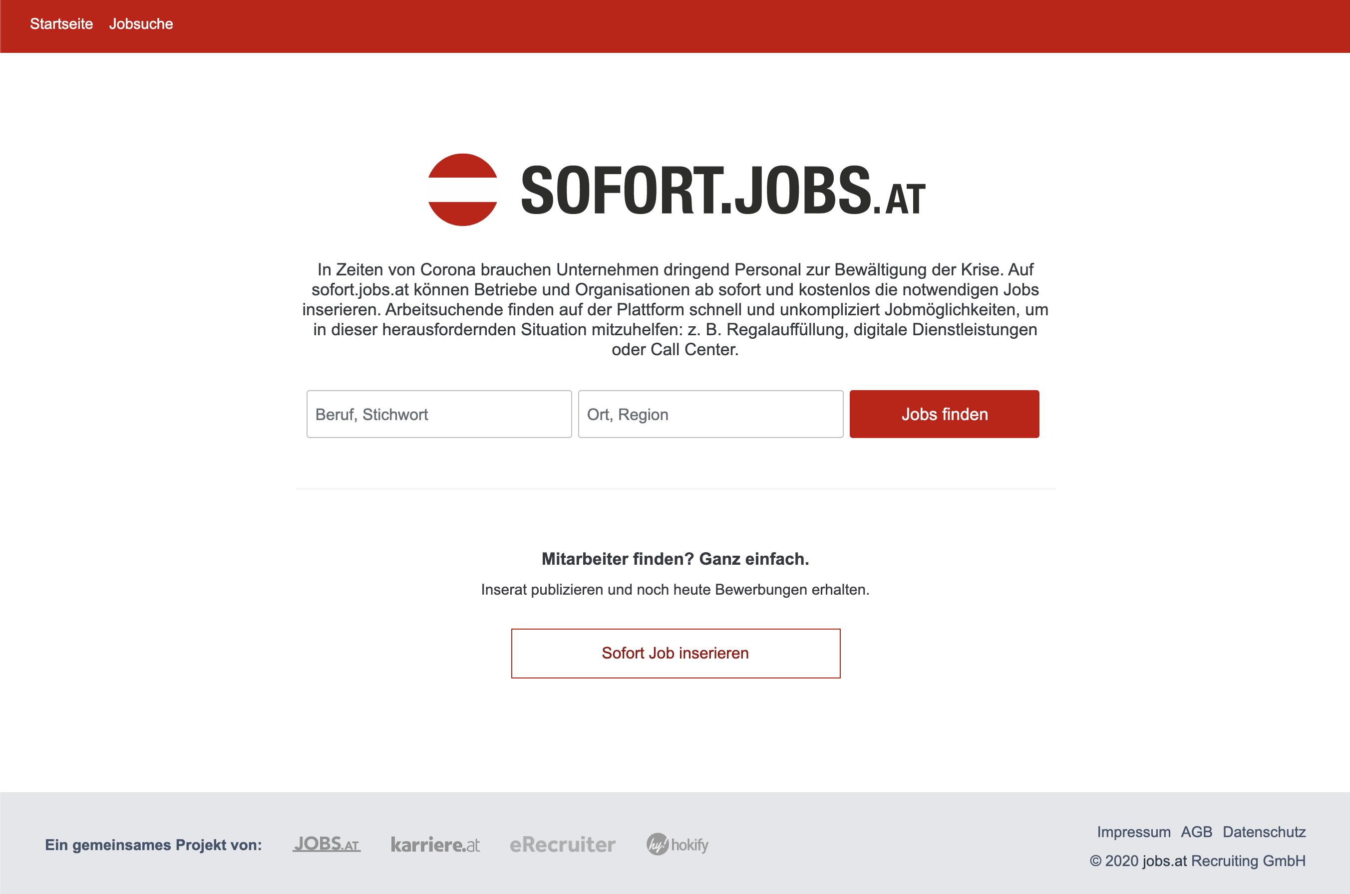 Sofort jobs at