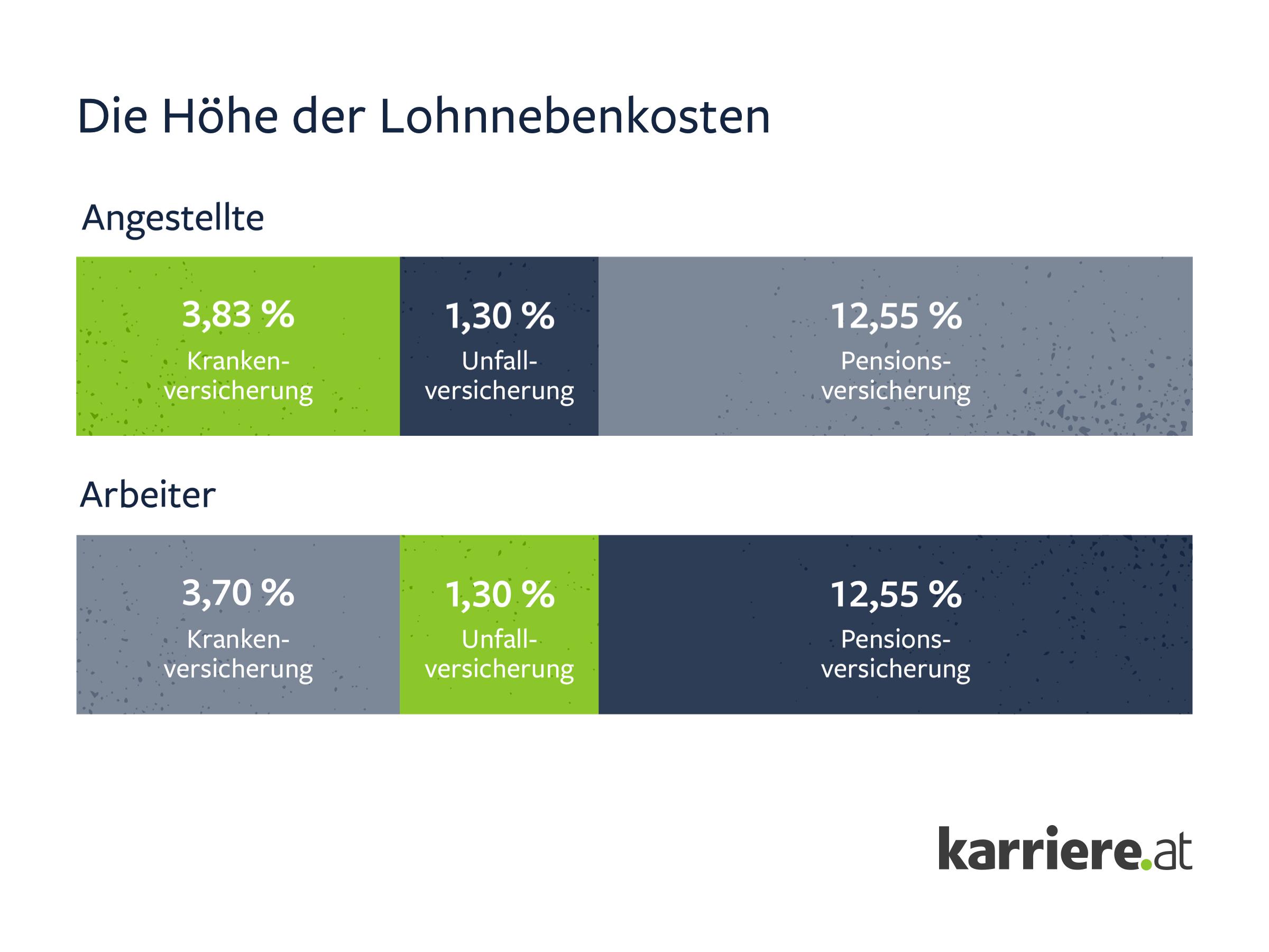 Lohnnebenkosten in Österreich - Zusammensetzung